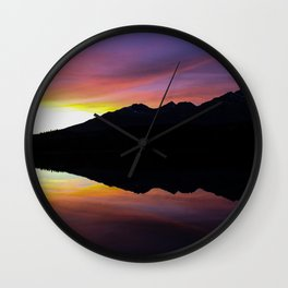Dreamy Magic Sunset Wall Clock