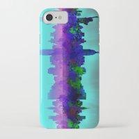 new york skyline iPhone & iPod Cases featuring New York skyline by Bekim ART