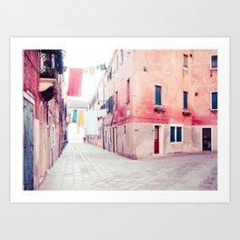 Hanging Hues in Venice Fine Art Print Art Print