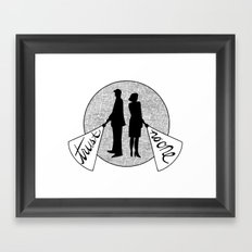 trust no one Framed Art Print
