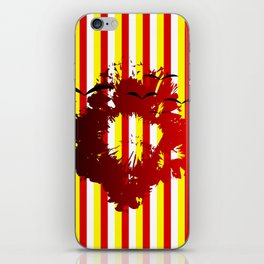 Abstract colorful striped iPhone Skin