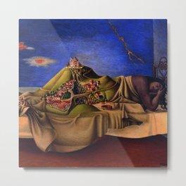'The Dream of the Malinche' magical realism dream portrait painting by Antonio Ruiz Metal Print