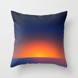 Cold Moroccan Sunset at the Beach Throw Pillow