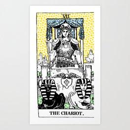 Modern Tarot 7 - The Chariot Art Print