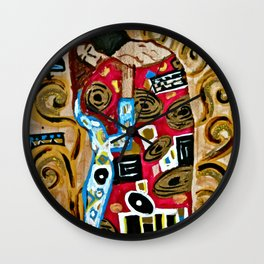 The Embrace - An Ode to Klimt Wall Clock