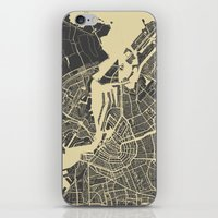 amsterdam iPhone & iPod Skins featuring Amsterdam by Map Map Maps