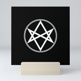 Men of Letters Symbol White Mini Art Print