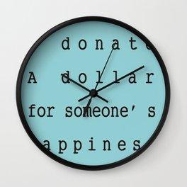 Charity Bags Wall Clock