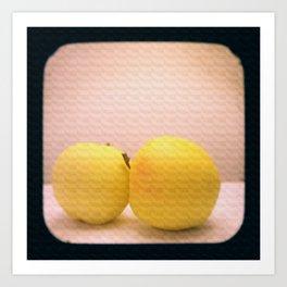 Apples with Texture TTV Art Print