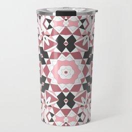 Mandala gray and pink Travel Mug