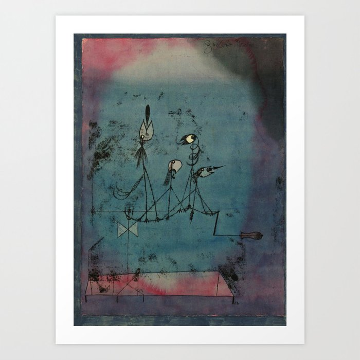 Twittering Machine >> Twittering Machine Paul Klee 1922 Art Print By Girllock Society6
