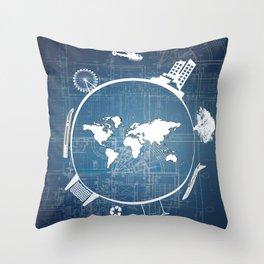 Global Engineering Throw Pillow