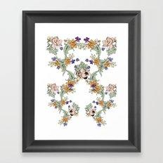 garden lace Framed Art Print