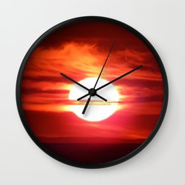 Fireball Above the Saint-Lawrence Wall Clock