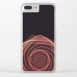 Geometric Rose Clear iPhone Case