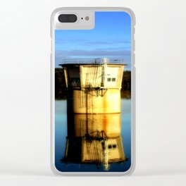 Reflections of a water Tower Clear iPhone Case