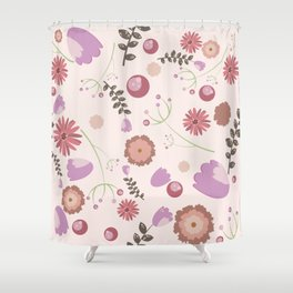Flowers and Berries Shower Curtain