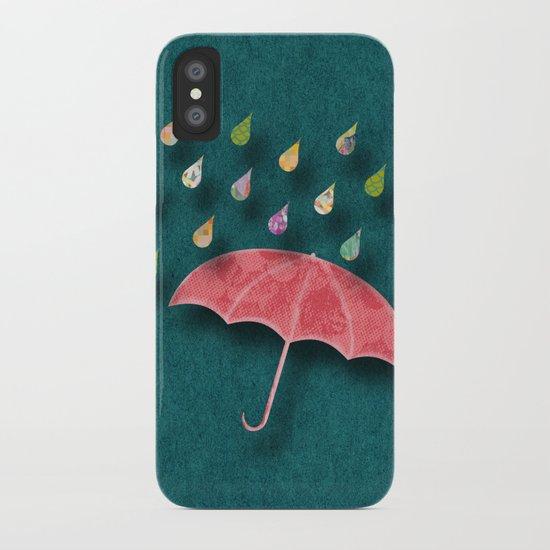 It's raining, it's pouring iPhone Case