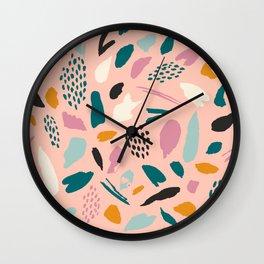 Pink abstraction Wall Clock