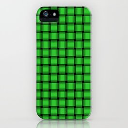 Small Lime Green Weave iPhone Case