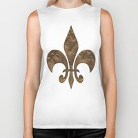 renaissance Biker Tanks featuring Renaissance Brown by Charma Rose