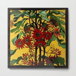 """WheelFlower"" Woodcut by Margaret Preston Metal Print"