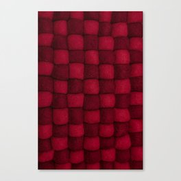 The world of wool - red and wine Canvas Print