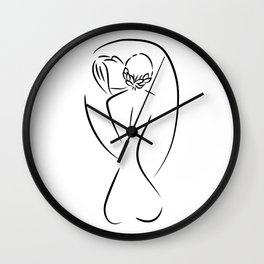 Sweet Embrace Wall Clock