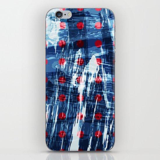 dots on blue ice iPhone & iPod Skin