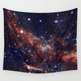 Vermilion Nebula Wall Tapestry