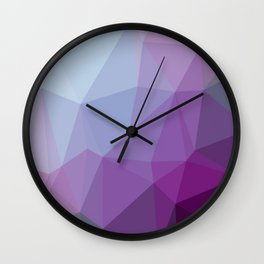 Shades Of Purple Triangle Abstract Wall Clock