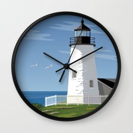Pemaquid Point Lighthouse Wall Clock