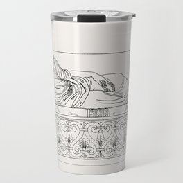 Roman lady on a couch from An  of the Egyptian Grecian and Roman costumes by Thomas Baxter (1782-182 Travel Mug