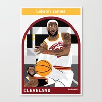 lebron Canvas Prints featuring LeBron James by Everyplayerintheleague