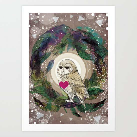 The Great Owl Art Print