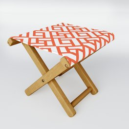 CHINESE CHIPPENDALE vermilion Folding Stool