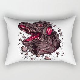 Dino with Headphones Finn Rectangular Pillow