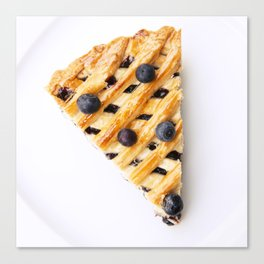 Blueberry Pie Canvas Print