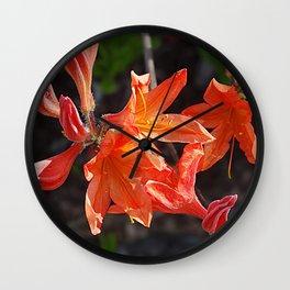 Fiery Blooms Wall Clock
