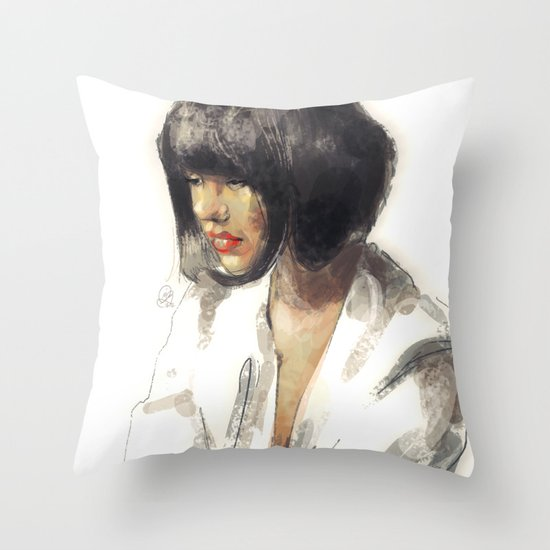outro. Throw Pillow