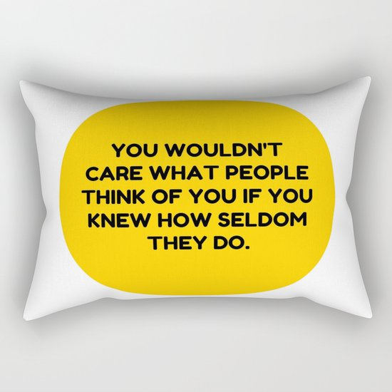 Don't Be Afraid To Do You. Rectangular Pillow