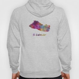 El Salvador in watercolor Hoody