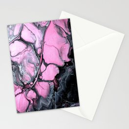 Acrylic Fluid Art  'Pink Shimmer' Stationery Cards