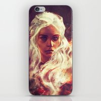 daenerys iPhone & iPod Skins featuring Fireheart by Alice X. Zhang