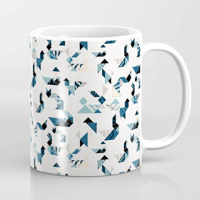 Wood cut tangram animals Coffee Mug by craftwithcartwright