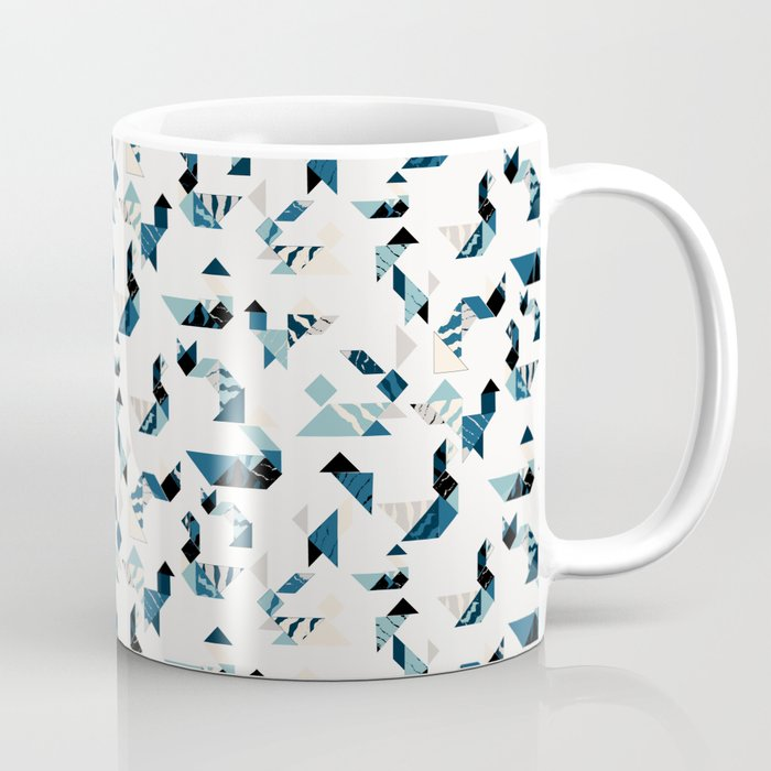 Wood cut tangram animals Coffee Mug