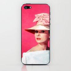 Audrey Hepburn Pink Version - for iphone iPhone & iPod Skin