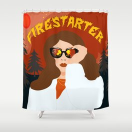 Firestarter Shower Curtain