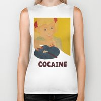 cocaine Biker Tanks featuring Sweet sweet cocaine... by Albertine et Gedeon