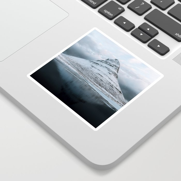 Kirkjufell Mountain in Iceland - Landscape Photography Sticker